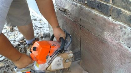 Sawing concrete can get difficult, but with the state-of-the-art equipment that we use, it allows us to cut perfectly square inside corners and eliminate over cutting. We also use hand chainsaws in case your job cannot have any over cuts on an opening. Our chainsaws also can achieve perfectly square inside corner cuts.